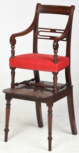 Regency Mahogany Convertible Step Stool