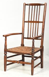 British Spindle Back Elm Armchair