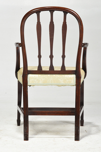 George III Mahogany Open Arm Chair