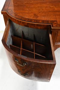 George III Inlaid Figured Mahogany Sideboard