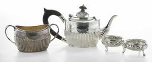 Four Pieces English Silver Hollowware