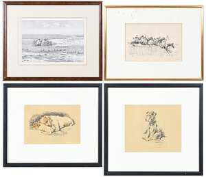 Four Sporting and Dog Related Prints