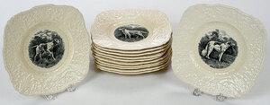 Set of 12 Royal Cauldon Ridgewood Plates