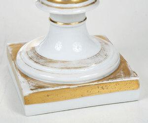 Seven Pieces Paris Porcelain Garnitures