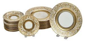 23 Tiffany Minton Gilt Decorated Plates