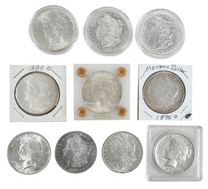 Ten Silver Dollars with Better Dates