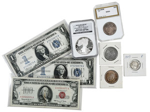 Type Coins, Commemoratives, and Currency