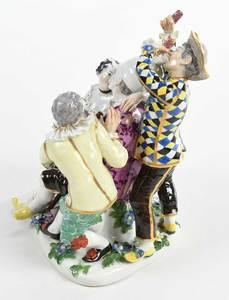 Meissen Figural Group, Mockery of Age