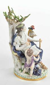 Meissen Group of Clio, Muse of History