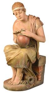 Austrian Painted Earthenware Figure