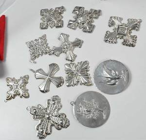 Eighteen Christmas Ornaments