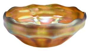 Tiffany Favrile Scalloped Rim Bowl