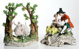 Two Luigi Fabris Porcelain Figural Groups