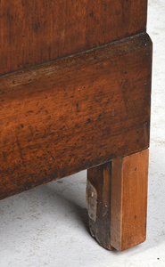 Classical Walnut Marble Top Commode