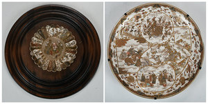 Two Finely Decorated Japanese Satsuma Platters