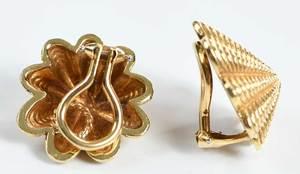 Tiffany & Co. Schlumberger 18kt. Earclips
