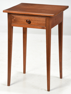 American Federal Walnut One Drawer Stand