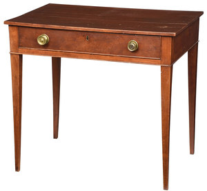 American Federal Cherry One Drawer Table
