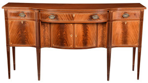 New York Federal Style Inlaid Mahogany Sideboard