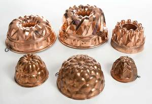 Group of 17 Assorted Copper Food Molds