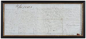 1824 Drinker Family Marriage Certificate