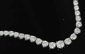 Platinum 24.0ct. Diamond Riviere Necklace
