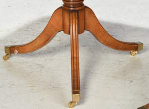 Regency Style Two Pedestal Dining Room Table
