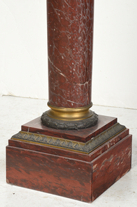 French Neoclassical Bronze and Marble Pedestal