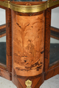 Louis XV Style Inlaid and Bronze Mounted Vitrine