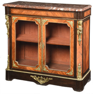 Louis XVI Style Marble Top Bronze Mounted Cabinet