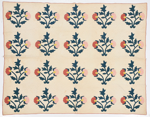 Attributed Tennessee 19th Century Applique Quilt