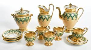 Gothic Revival Paris Porcelain Tea Set