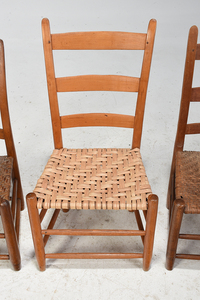 Collection of Four Tennessee Ladder Back Chairs