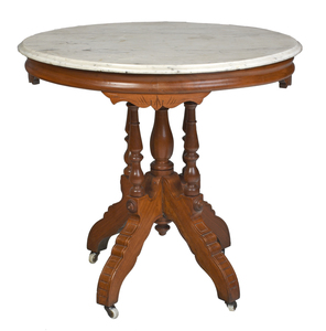 Victorian Marble Top Table from Carnton Home