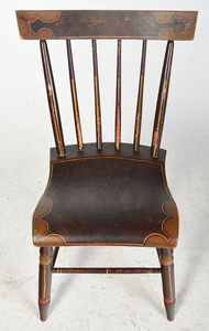 Set of Six American Fancy Painted Side Chairs