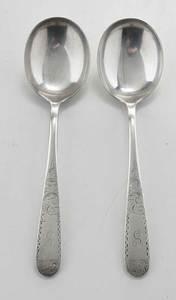 Eight Kirk Mayflower Sterling Gumbo Spoons