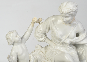 Continental Porcelain White Glazed Figural Group