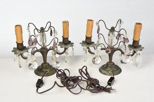 Three Pairs Venetian Style Candelabra Lamps