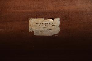 British Figured Mahogany Labeled Linen Press