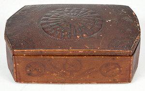 Civil War Era Compass Motif Signed Box
