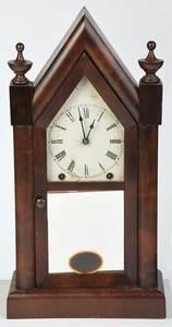 American Gothic Revival Mahogany Shelf Clock