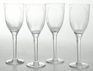 Set of Eight Lalique Angel Champagne Flutes