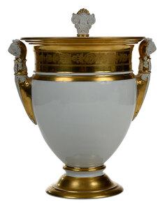 Large Classical Gilt Decorated Porcelain Urn