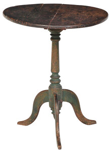 Federal Paint Decorated Candlestand