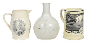 Three Pieces of Decorated British Pottery