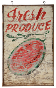 American Hand Painted Produce Sign