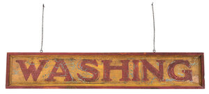 Large American Paint Decorated Trade Sign