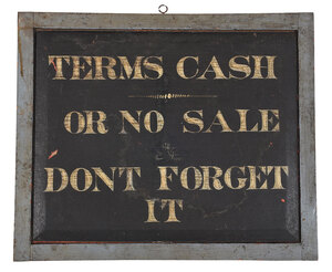 American Double Sided Hand Painted Trade Sign