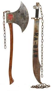 Ka-bar Knife and Keen Cutter Ax Trade Signs