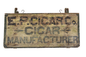 Hand Painted E.P. Cigar Co. Trade Sign